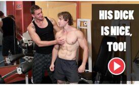 Homens gostosos na academia metendo pra valer